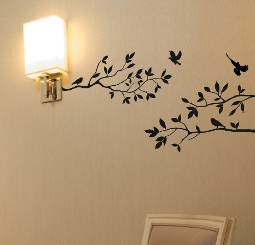 Tree-Branches-Wall-Decal-with-Birds-Vinyl-Sticker-Nursery-Leaves-40-Wide-X-18-High-As-Shown
