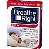 Breathe Right Extra 10 Piece Nasal Strips, 2 Count, 1.6 Ounce