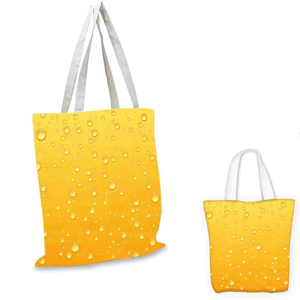 Yellow canvas messenger bag Yellow Cute Tropical Exotic Pineapple Fruit Pattern with Dots Little Circles foldable shopping bag White and Yellow 14x16-11