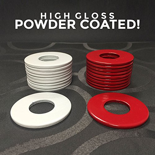 (4) Powder Coated Replacement 2-1/2'' Washer Toss Pitching Game Washers - High Gloss! by BoltsandNuts