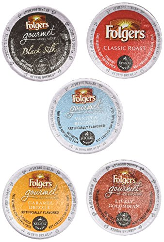 Belgian Chocolate Truffles 4 (20-count K-cup for Keurig Brewers Folgers Coffee Variety Pack Featuring Folgers Cups)
