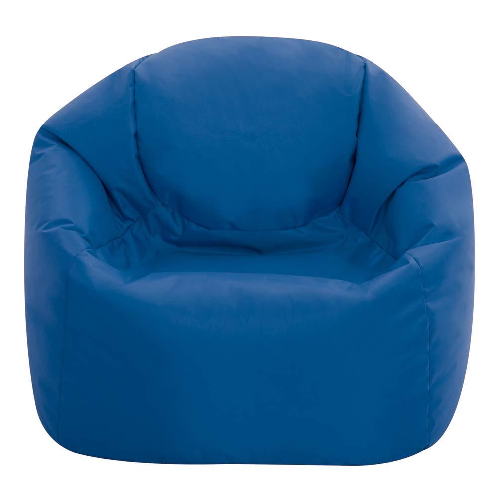 Bean Bag Bazaar Hi-Rest Chair - Kids and Teens - Indoor Outdoor Childrens BeanBag (Blue, Small)