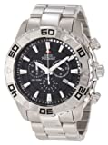 Swiss Precimax Men's SP12051 Valor Elite Black Dial with Silver Stainless-Steel Band Watch