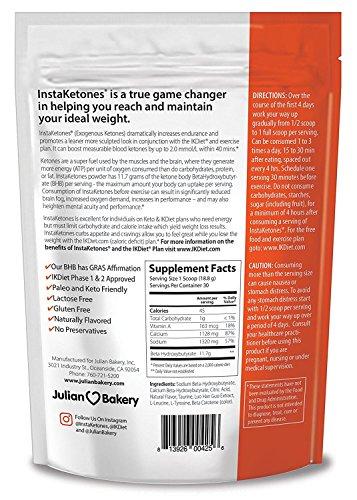 InstaKetones Orange Burst 11.7g GoBHB Per Scoop (Caffeine Free) (30 Servings) Exogenous Ketones 1.24 lbs by Julian Bakery (Image #1)