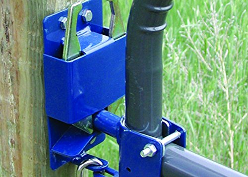 Lockable Gate Latch - SpeeCo 16100100 Two-Way Lockable Gate Latch; Helps To Prevent Gate End Sagging and Swinging; Fits Round Tube Gates; Designed To Accept a Padlock; 1 Hand Operations and Easy Installation