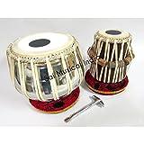 Queen Brass Tabla Set, Stainless Steel Bayan w/ Bag