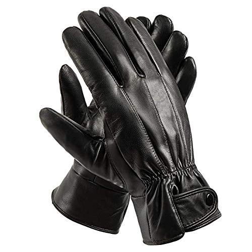 Anccion Men S Genuine Leather Warm Lined Driving Gloves