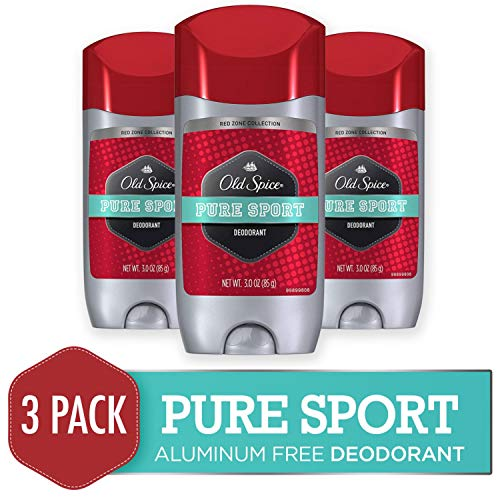 - Old Spice Deodorant for Men, Pure Sport Scent, Red Zone Collection, 3 Oz (Pack of 3)
