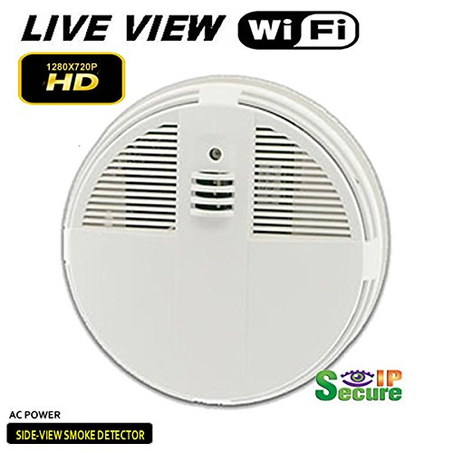 Spysonic AC-Power Side-View Smoke Detector Hidden Camera ...