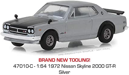 Greenlight Nissan Skyline 2000 GTR 1971 47020 B 1//64