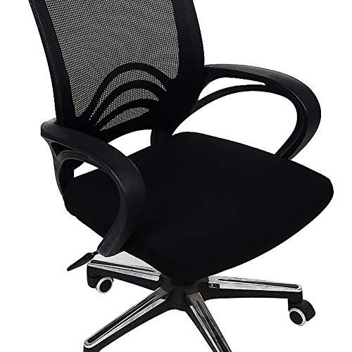 Homaxy Premium Jacquard Office Computer Chair Seat Cover, Spandex Stretch Desk Chair Seat Cushion Covers, Durable Protectors, Black -