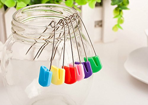 Pack Of 50 Plastic Head Baby Safety Pins Safety Hold Clip