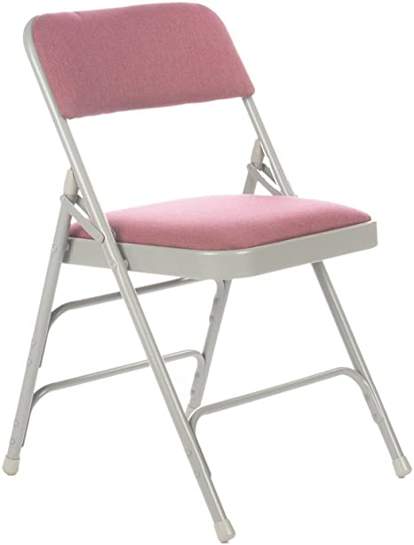 Amazon Com Commercial Fabric Padded Folding Chair Triple Cross Bracing Quad Hinging 300 Lb Tested 4 Pack Burgundy Kitchen Dining