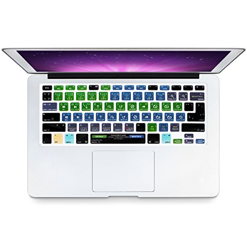 Serato Keyboard Shortcuts - HRH Serato DJ Hotkey Shortcuts Spanish Language Keyboard Cover Silicone Skin for MacBook Air 13 Pro 13 15 17 with or w/out Retina(Not Fit for Mac Pro 13 15 with/without Touch Bar 2016 2017) US/EU