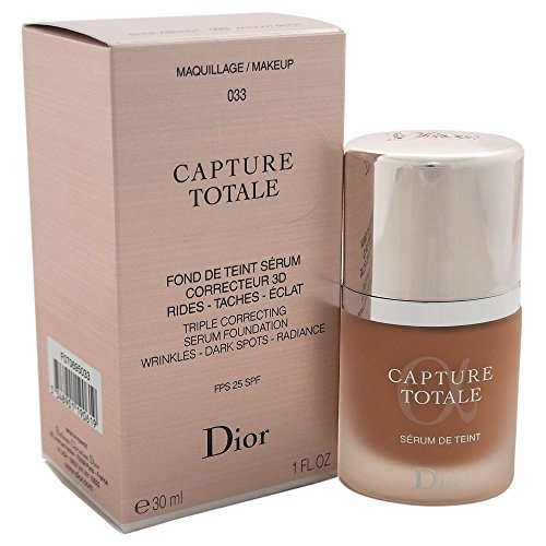Christian Dior Capture Totale Triple Correcting Serum Foundation SPF 25, No.033 Apricot Beige, 1 Ounce (Totale Capture Foundation Dior)