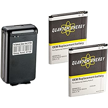 Amazon.com: QUANTUM 2x Baterías 3,100 mAh para Samsung ...