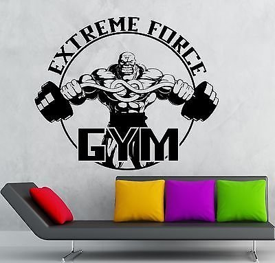 Wall Sticker Vinyl Decal Gym Extreme Force Bodybuilding Fitness Sport VS2190