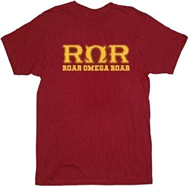 Monsters University Roar Omega Roar Adult Dark Red T-Shirt (Adult Small)