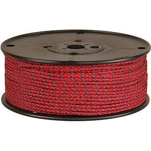 BlueWater Ropes 3mm Accessory Cord (Red Mix, 100M)