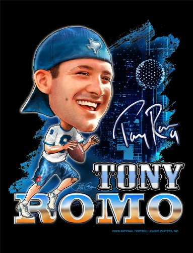 Tony Romo - Officially Licensed NFL Players Art Print