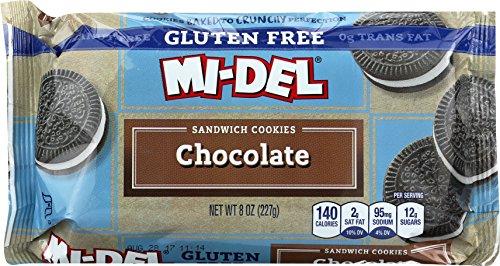 Mi-Del Gluten Free Cookies, Chocolate Sandwich, 8 (Mi Del Gluten Free Cookies)
