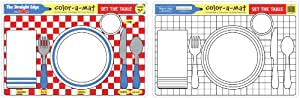 Melissa & Doug Set the Table Color-A-Mat