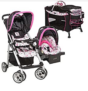 disney baby minnie mouse car seat stroller play pen bassinet changing. Black Bedroom Furniture Sets. Home Design Ideas