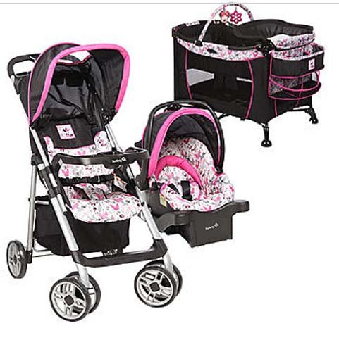 Amazon Disney BABY Minnie MOUSE Car Seat STROLLER Play Pen BASSINET Changing Table Baby
