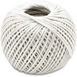 White - 350 Feet Long Polypropylene Twine Roll - For Industrial, Packaging, Arts & Crafts, Hobby, Gifts, Decoration, Bundling, Gardening, And Home Use - By Kazco