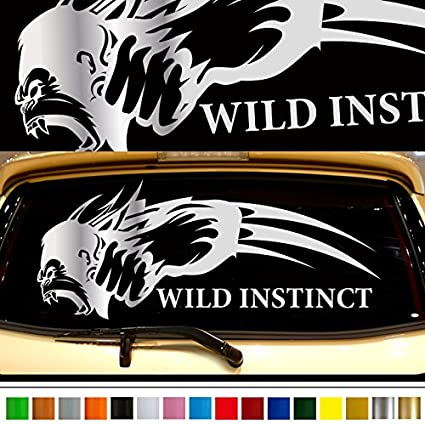 Gorilla car rear sticker 39 car custom stickers decals 【8 colors to choose from】