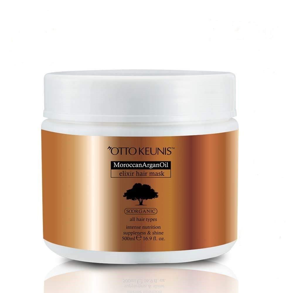 Otto Keunis Natural Moroccan Argan Oil Elixir Hair Mask Treatment -All Hair Types- 500 Ml. 16.9 Fl.oz.