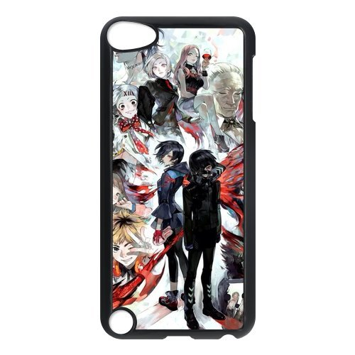 iPod 5 case,iPod Touch 5th Generation Case,iPod Touch 5 case cover,Custom Tokyo Ghoul Plastic Case Cover Protector for iPod Touch 5/5th Generation (Black/White)