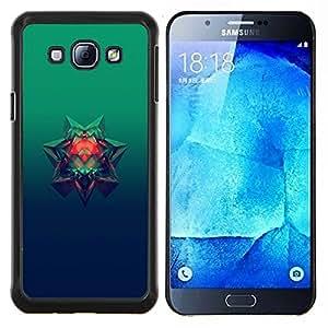 Estrella de 6 puntos- Metal de aluminio y de plástico duro Caja del teléfono - Negro - Samsung Galaxy A8 / SM-A800