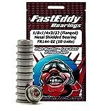 1/8x1/4x3/32 (Flanged) Metal Shielded Sealed Ball Bearings FR144-ZZ (10 Units)