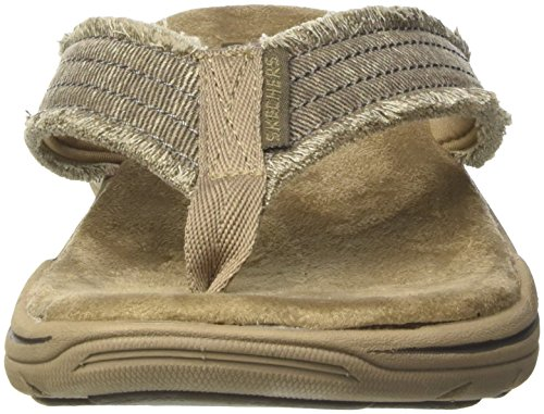 khaki arven Marron Tongs Skechers Evented Homme T0HXXq