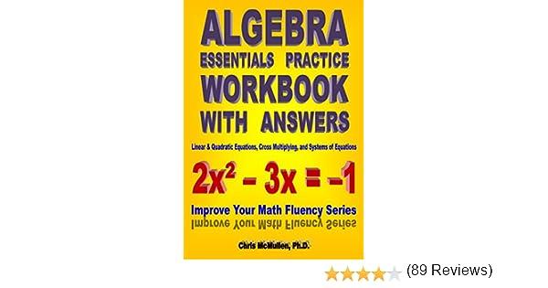 Algebra Essentials Practice Workbook with Answers: Linear ...