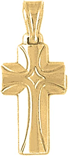 12mm x 27mm 14k Yellow Gold Cross Pendant