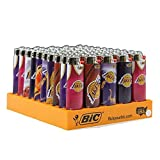 Bic Lighters Los Angeles Lakers Box of 50 Lighters Assorted Designs