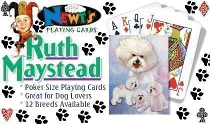 Bichon Frise Dog Playing Cards by Ruth Maystead