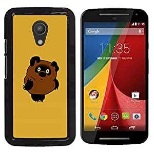 CASEX Cases / Motorola MOTO G 2ND GEN II / Cute Bear # / Delgado Negro Plástico caso cubierta Shell Armor Funda Case Cover Slim Armor Defender