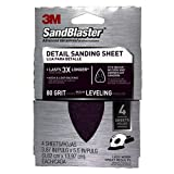 3M 9671 80-Grit Mouse Sandpaper Sheets, 4-Pack