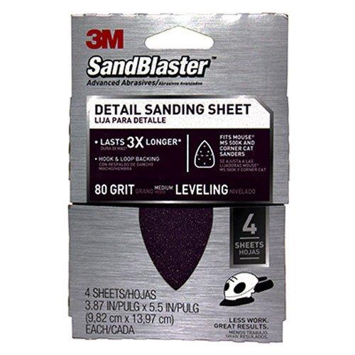 3M 9671 80 Grit Sandpaper Sheets