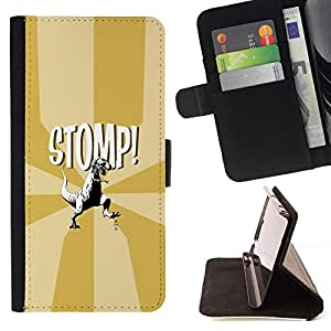 Momo Phone Case / Flip Funda de Cuero Case Cover - Funny T-Rex - Stomp - Dinosaur - Sony Xperia M4 Aqua