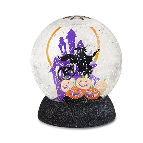 "Witch Globe (Lighted Haunted House Witch Halloween Shimmer Globe 4"")"