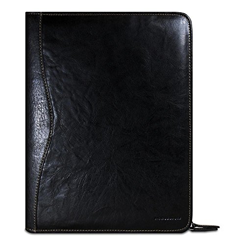 Jack Georges Voyager Zip-Around Letter Size Writing Pad (Black)