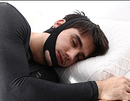 Snore tope cinturón anti ronquidos CPAP correa de barbilla mandíbula Apnea del sueño solución TMJ azul
