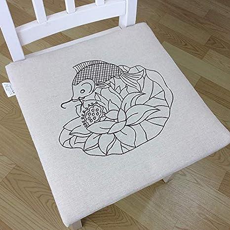 Amazon.com: ZT-HOME - Almohadillas para sillas, color sólido ...