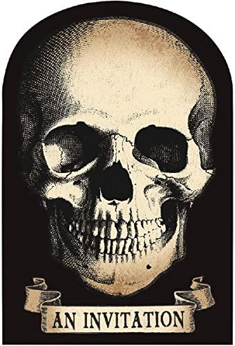 Boneyard Skull Invitations