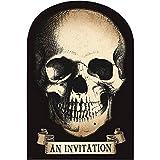 Amscan Boneyard Halloween Party Creepy Skull Invitation, Paper, 4'' X 6''., Pack of 20 Party Supplies