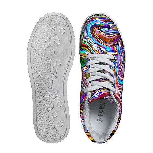 Per Te Disegni Cool Mens Graffiti Low Top Comode Scarpe Da Skateboard Lace-up Sneaker Multi 3